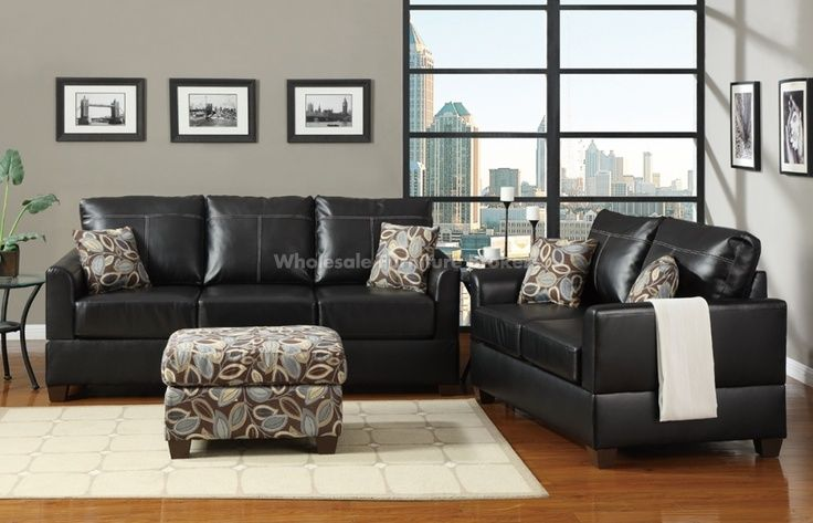 Black Leather Settee And Dark Wood Furniture Decor Google Search