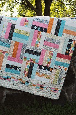 easy Quilt Pattern for Jelly Roll Moda Precuts Layer Cake or Fat Quarters