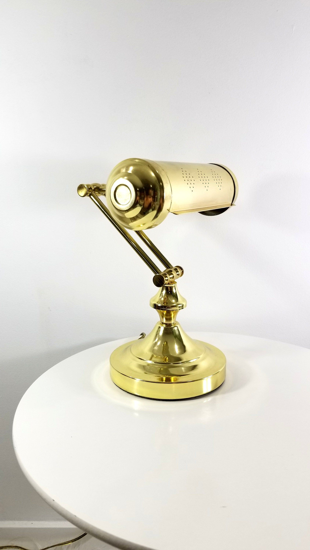 Vintage Brass Piano Lamp Banker S Lamp Desk Lamp 1970s