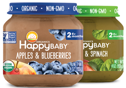 Buy 2 Get 1 FREE Happy Baby Organics Clearly Crafted Jars