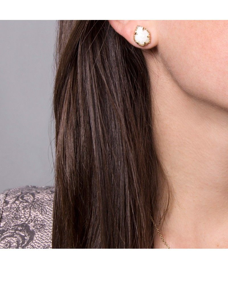 3f888823e Tessa Stud Earrings in White Pearl - Kendra Scott Jewelry | Earrings ...