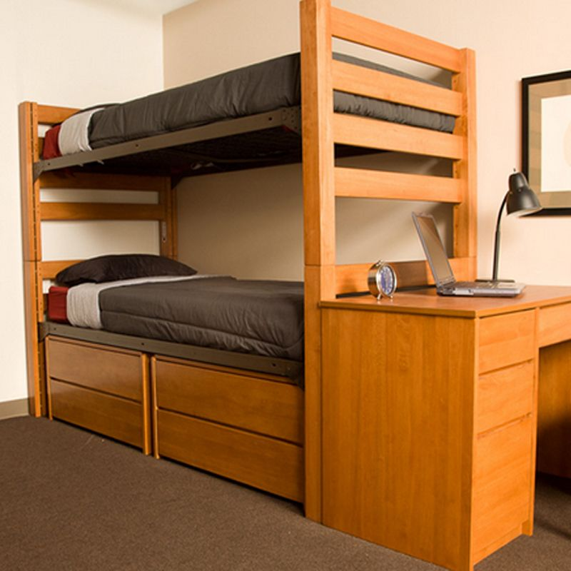 Best University Loft Graduate Series Twin Xl Bunk Bed Wild Cherry Finish Adjustable Height Built In 400 x 300