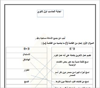 الحاسب الآلي أول ثانوي الفصل الدراسي الثاني Chart Line Chart