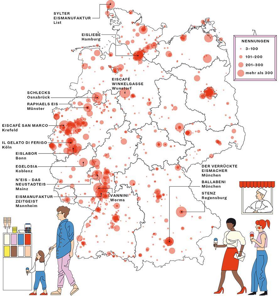 Eisdielen Hier Gibt Es Das Beste Eis Landkarte Deutschland