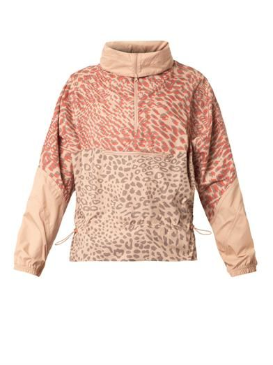 Los Angeles skönhet utsökt stil Leopard-print lightweight jacket | Adidas by Stella Mccartney ...