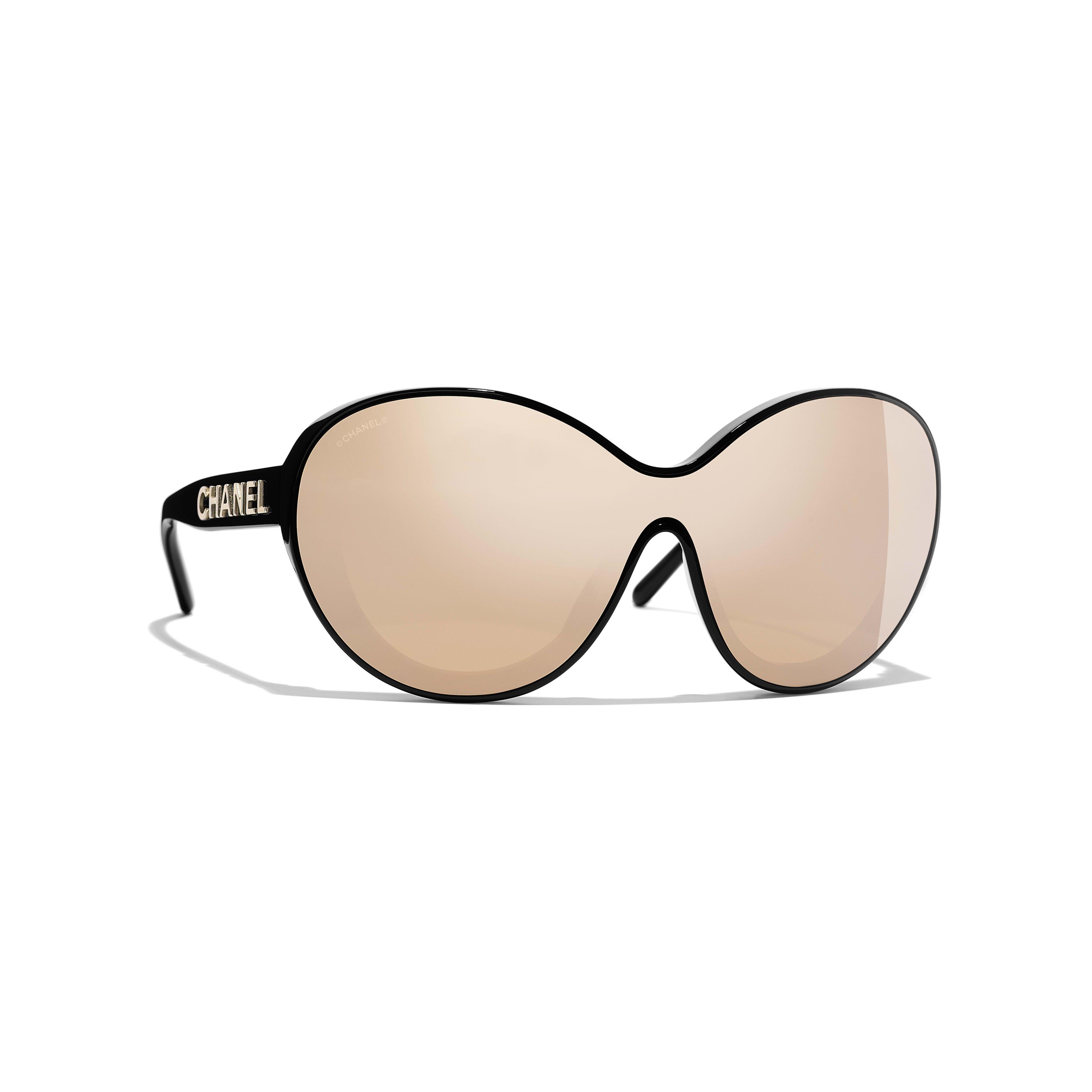 2eca0432e9 Shield Sunglasses Black frame. 24-Karat Gold lenses. Ref.1038 C622 ...