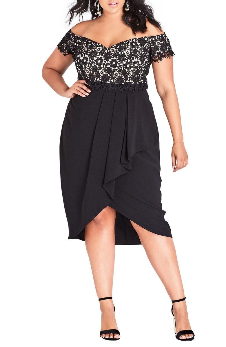 City Chic Glamour Lace Dress Plus Size Nordstrom Moda Dlya Pyshnyh Devushek Moda Shvejnye Idei [ 1197 x 780 Pixel ]