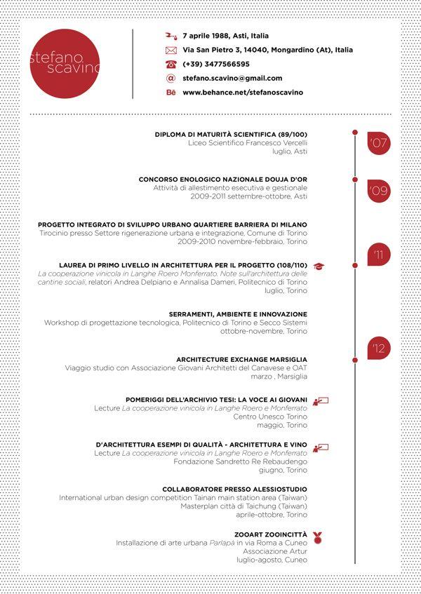 Curriculum Vitae By Stefano Scavino Via Behance Circle Name