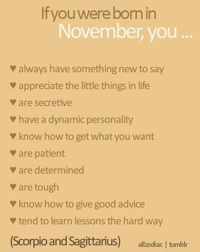 If you were born in November