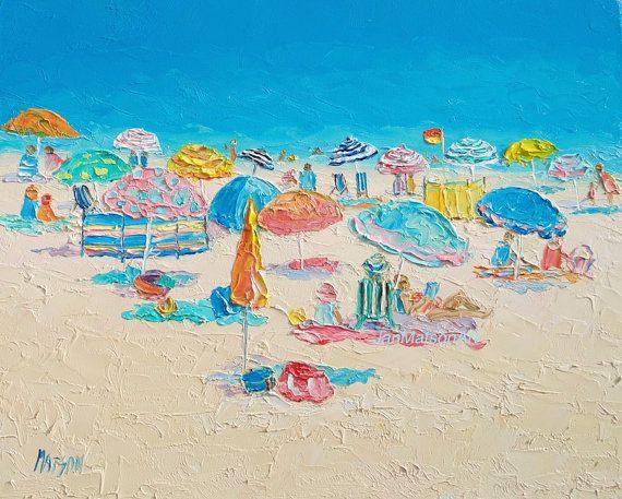 Beach painting, Beach decor, beach art, tropical art by Jan Matson $155