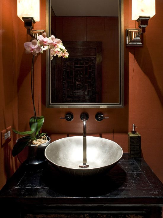 Powder Room African Safari Decor Design, Pictures, Remodel ...