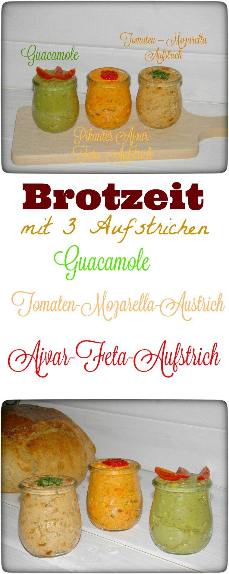 Leckere Brotzeit mit 3 Aufstrichen - wiewowasistgut.com
