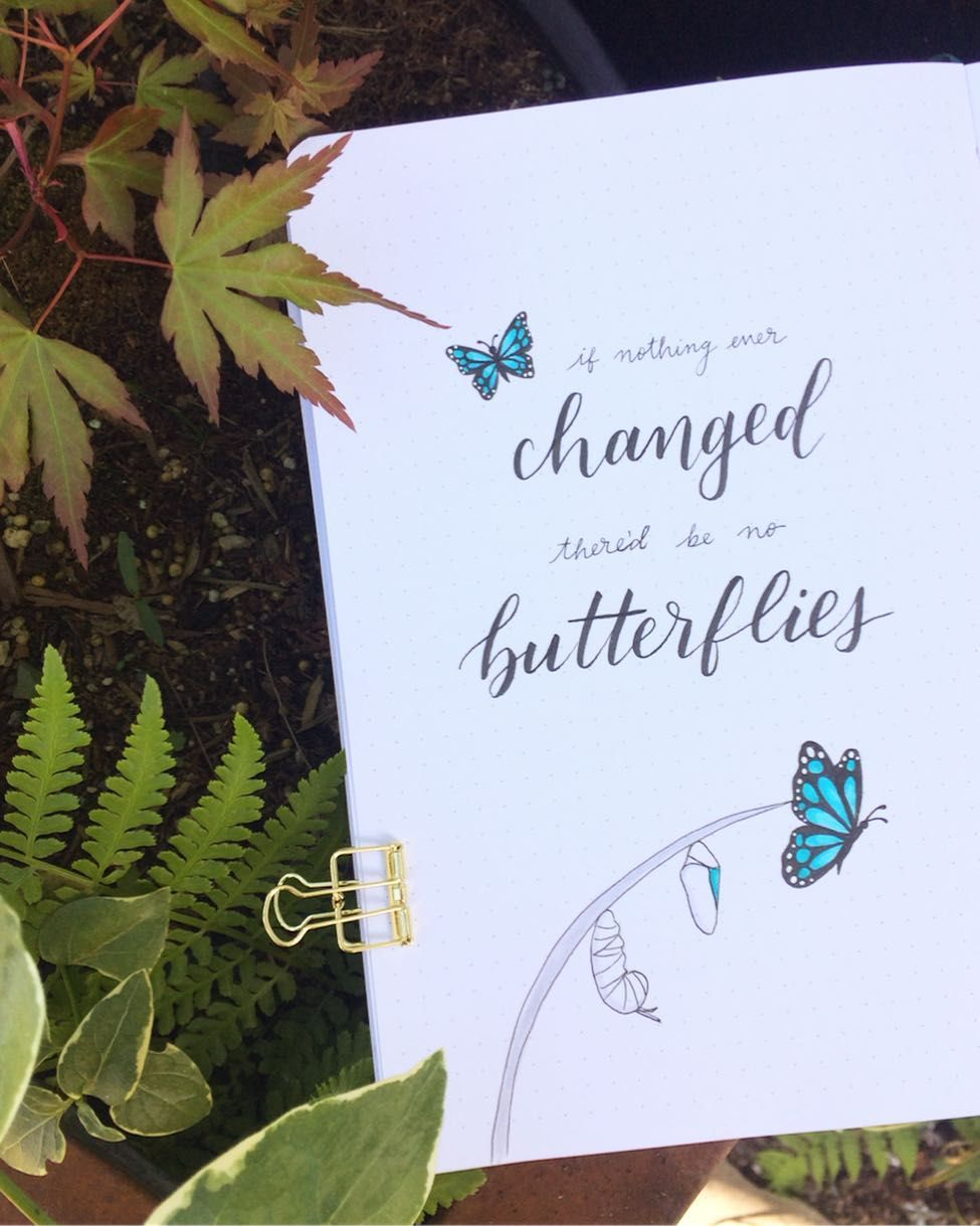 Photo of Butterflies Quote Page Bullet Journal