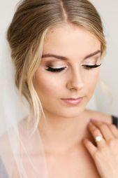 Wunderschönes Hochzeits-Make-up sieht aus wie ein großer Tag ★ Weitere Infor…