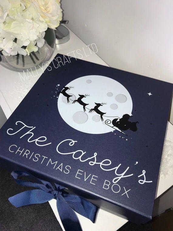 Personalised Santa Sleigh Across Moon Christmas Eve Box - Night Before Christmas - Christmas ...
