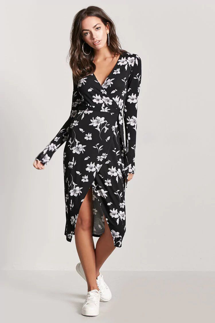 8abd63752ff3 Floral Wrap Dress | Forever21 | forever 21| the latest | Wrap dress ...