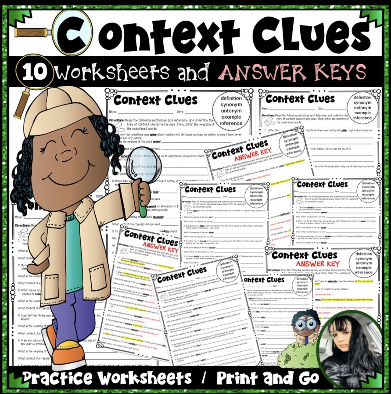 Context Clues Practice Worksheets And Answer Keys