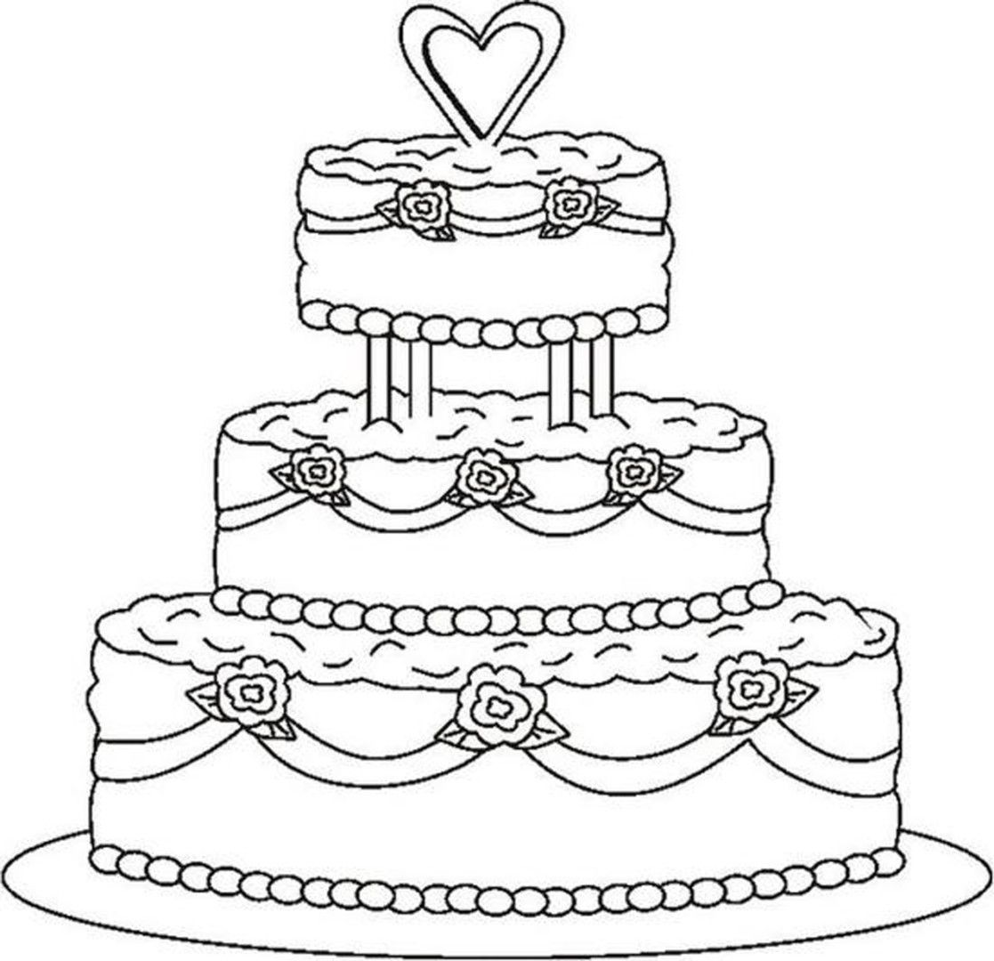 http://colorings.co/cake-coloring-pages-for-girls/ #Cake