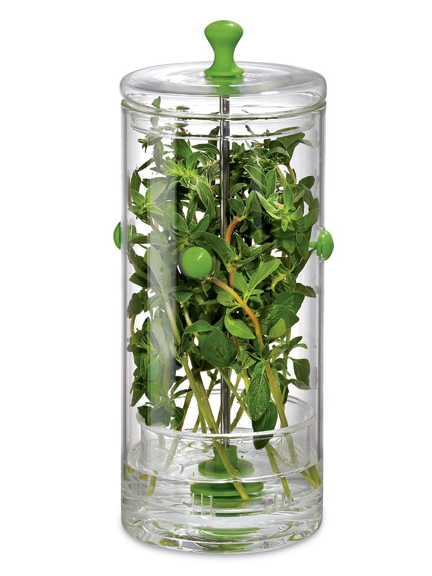 Glass Fresh Herb Keeper - How to Store Fresh Herbs | Gardeners.com