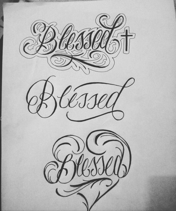Cool Fonts For Tattoos Generator: Blessed Tattoos