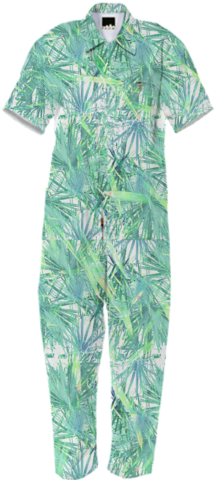 PALM Jumpsuit by RACHELCLORE on Print All Over Me. #paomjumpsuit #paomplants