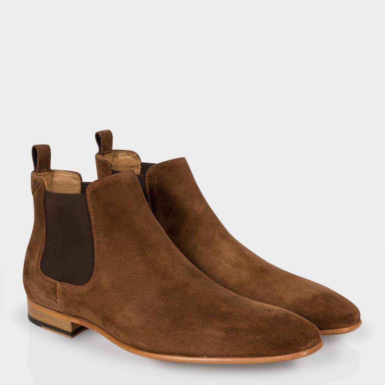 363b3dc8e29d Paul Smith Men's Shoes | Brown Suede 'Falconer' Chelsea Boots | SHOES