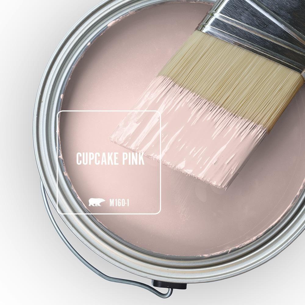 Behr Premium Plus 1 Qt M160 1 Cupcake Pink Hi Gloss Enamel Interior Exterior Paint 805004 The Home Depot Interior Paint Pink Paint Colors Behr Marquee Paint