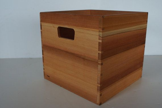Cedar Lp Case For 12 Inch Vinyl Lp Record By Steidlewoodworking 160 00 Crates Record Storage Lp Record Storage