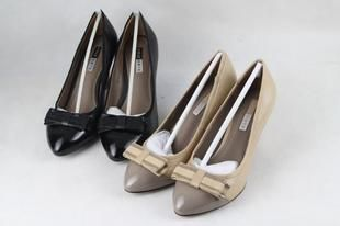 Bowknot adornment splicing single shoes