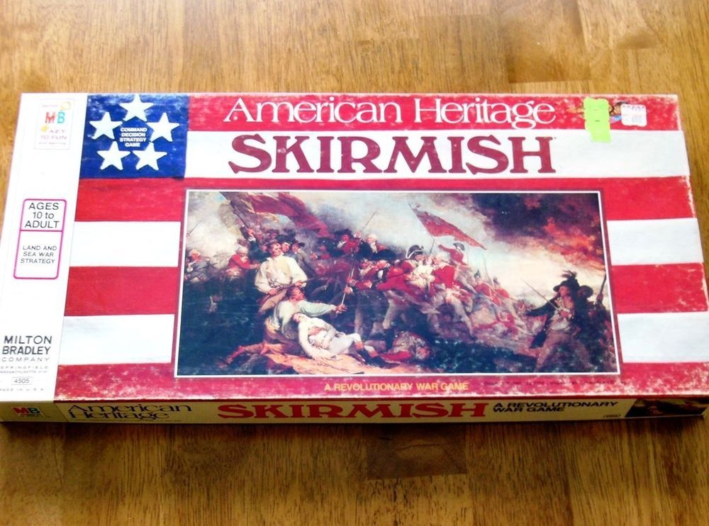 Milton Bradley Skirmish Board Game American Heritage