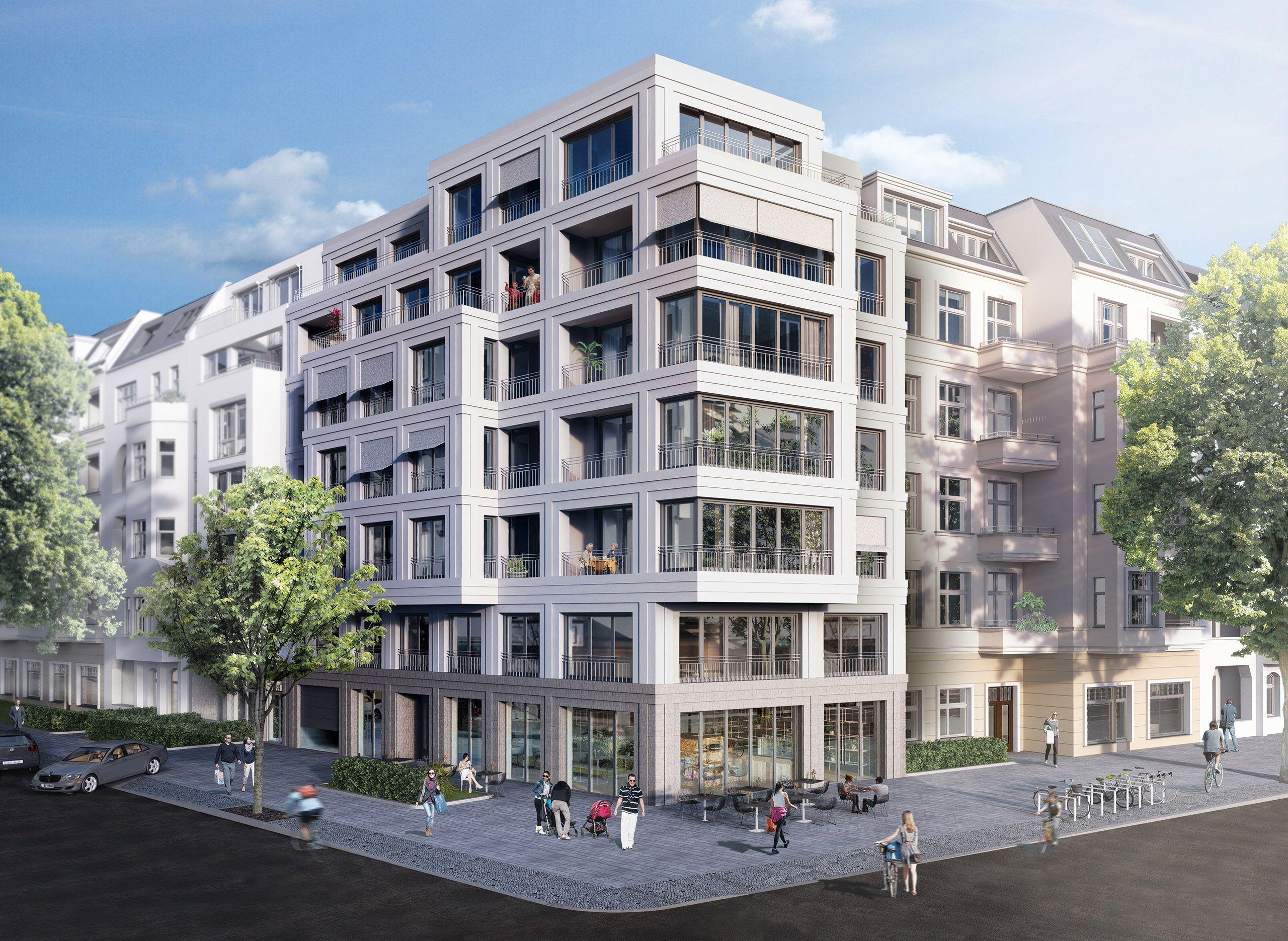 Architekturvisualisierung Berlin berlin charlotteburg city joachim friedrich straße loft