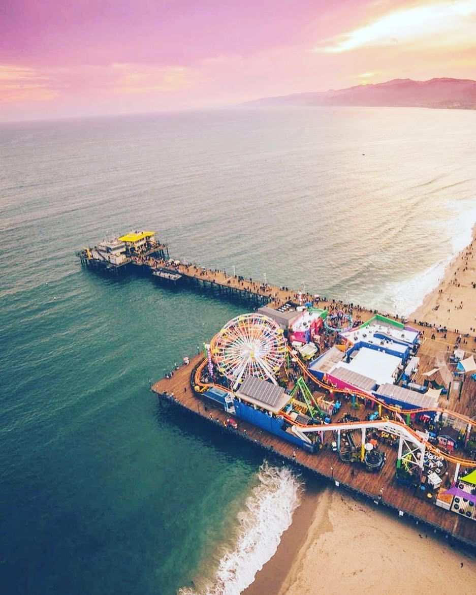 Santa Monica Pier (With images) Beautiful places to
