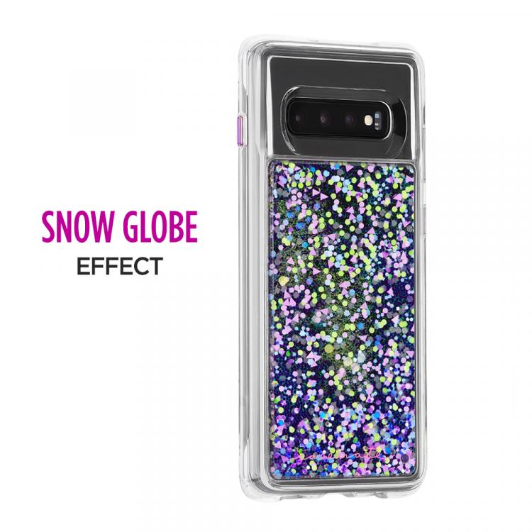 Waterfall Purple Glow Galaxy S10 Case