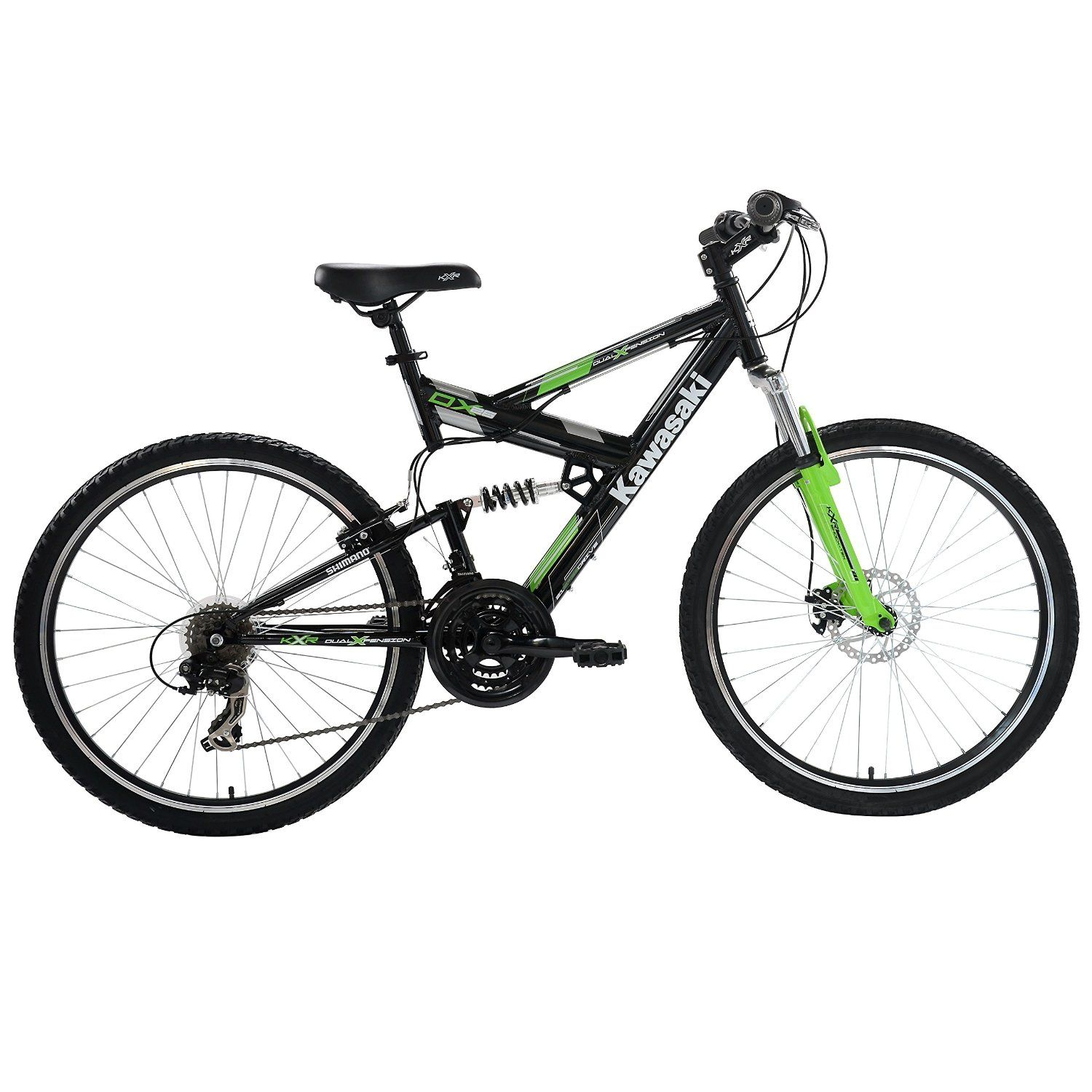 Kawasaki DX Full Suspension Mountain Bike, 26 inch Wheels