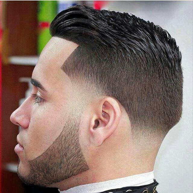 Concepto de corte de cabello para caballero