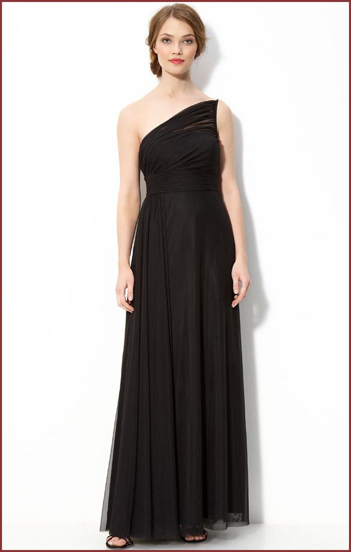 one shoulder black bridesmaid dresses | Gommap Blog