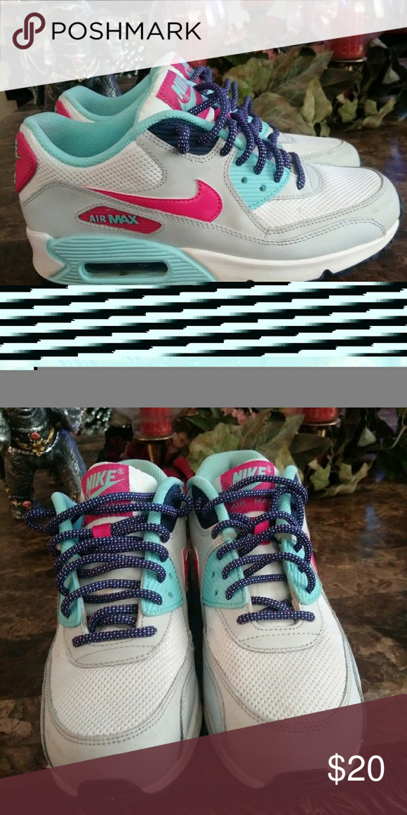 9716bb6cc0 Nike shoes Pink and blueish/turquoise. Worn a few times. Nike Air ...