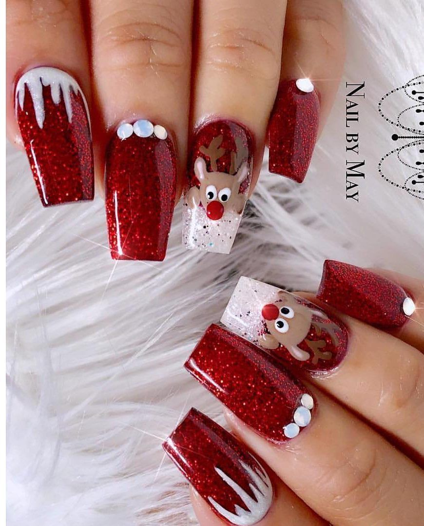 Amazing Christmas Nails Designs For New Year Party For 2019 Page 40 Of 53 Ladiesways Com Women Hairstyles Blog Christmas Nails Acrylic Christmas Nail Designs Christmas Nails