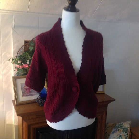 Sweater One button sweater! Maroon color Dress Barn Sweaters