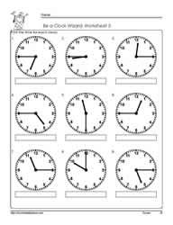 Time to the Half Hour | Worksheets, Telling time and Math