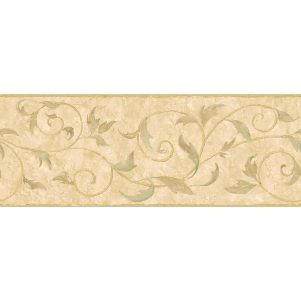York Wallcoverings Inspired By Color Vine Scroll Wallpaper Border Pa5570b The Home Depot York Wallpaper Brown Wall Decor Prepasted Wallpaper