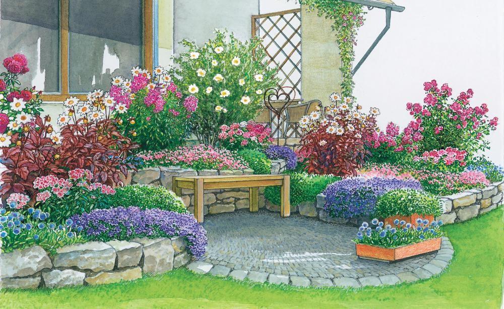 Ein Neuer Sitzplatz In Der Gartenecke Gartenecke Garten Garten Bepflanzen