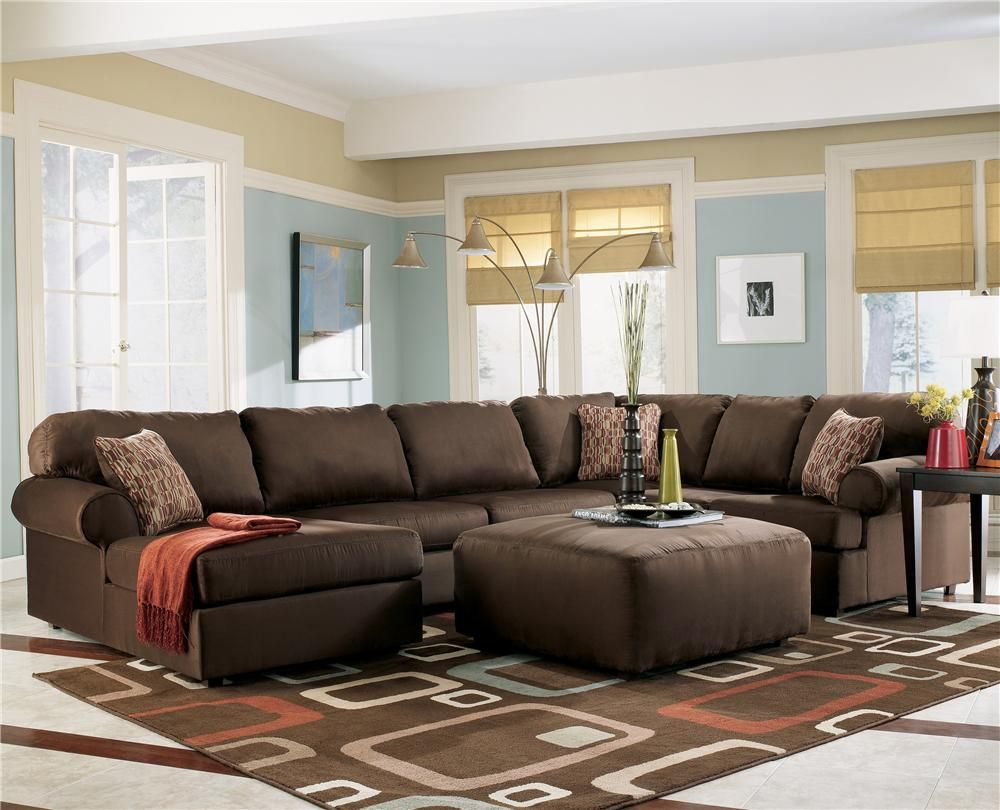 Image detail for -Brown Cafe Sectional Sofa with Chaise by Ashley ...
