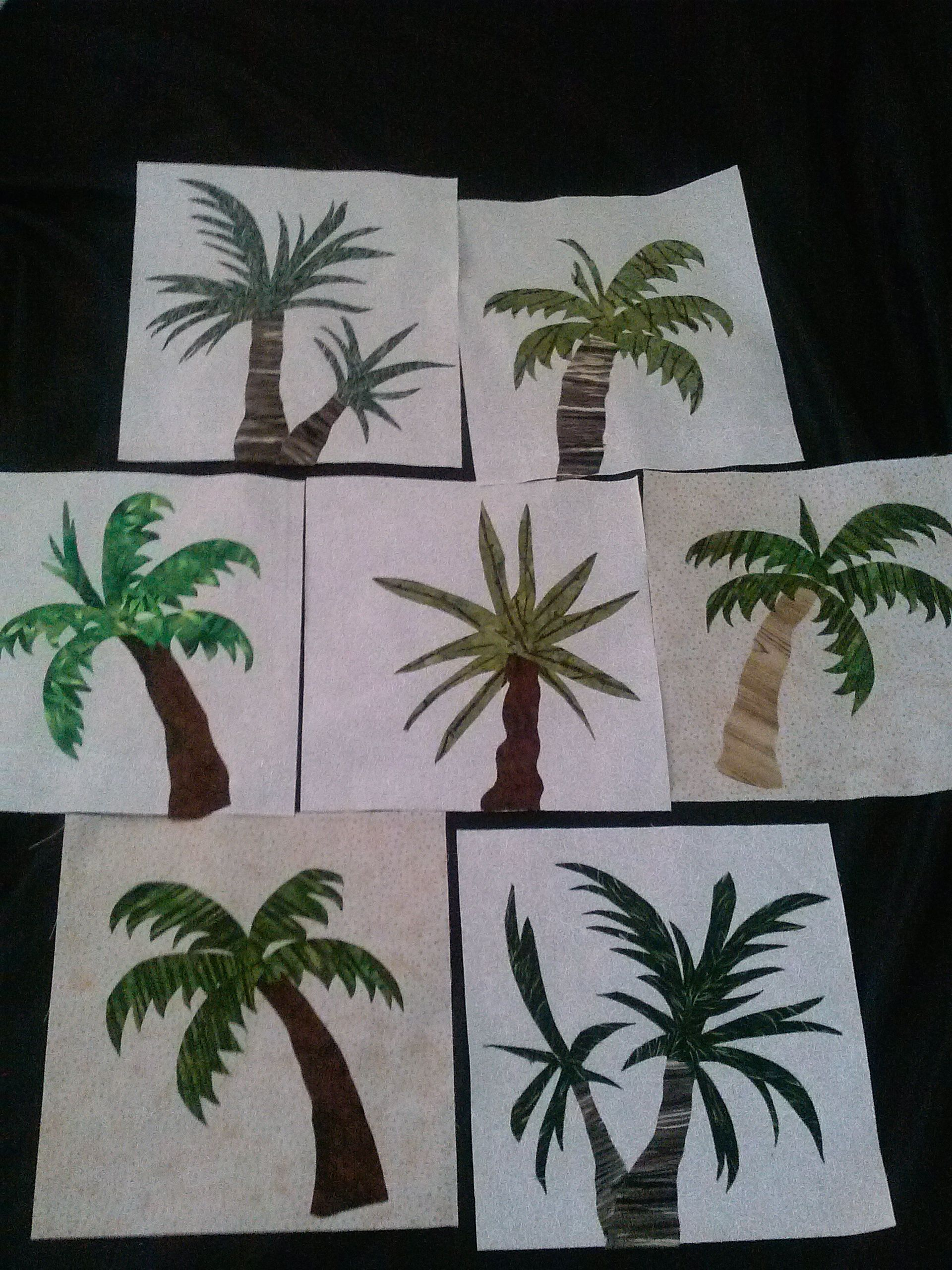 Palm Trees For My New Quilt Palm Trees For My Quilt