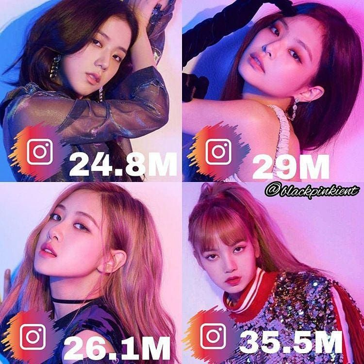 Bllɔkpiik On Instagram Kpop Idols With The Most Followers On Instagram Instagram Kpop Idol Idol