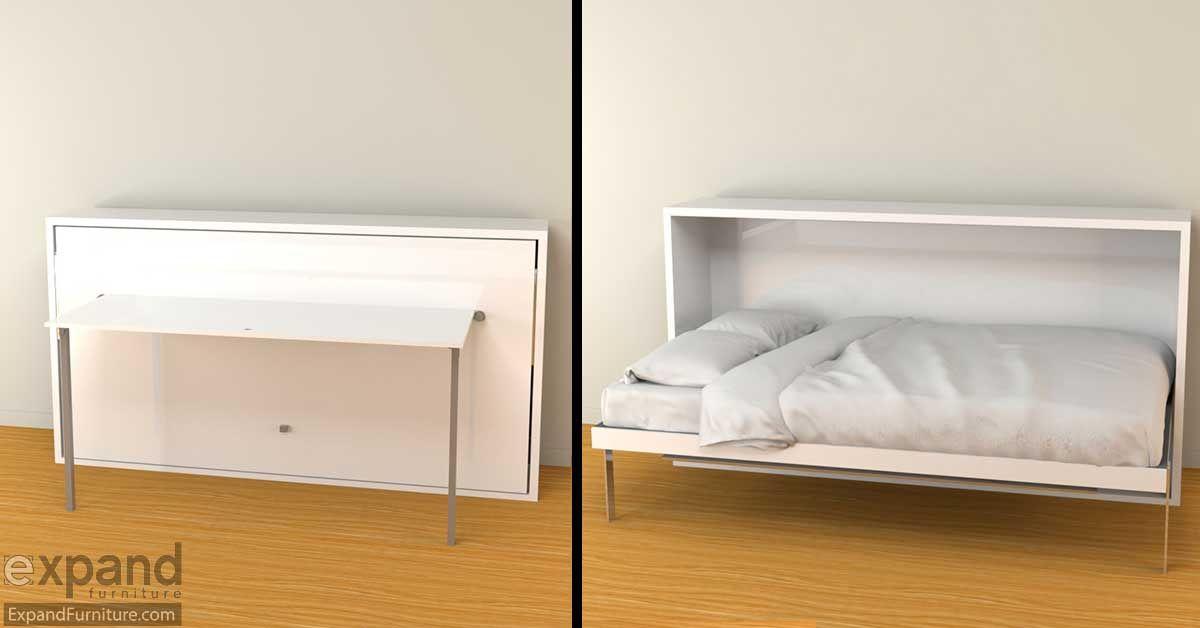 Hover   Horizontal Single Murphy Bed Desk | murphy beds | Murphy
