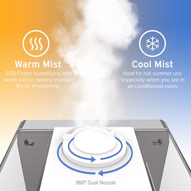 Amazon Com Levoit Humidifiers Vaporizer Warm And Cool Mist Ultrasonic Air Bedroom Humidifier With Remote 6l Humidifier Best Humidifier Best Room Humidifier