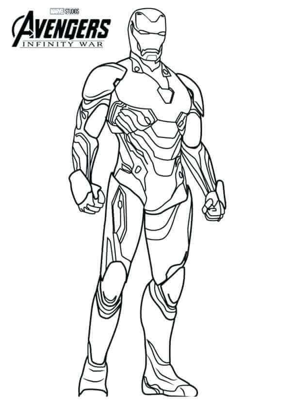 Iron Man Infinity War Coloring Page
