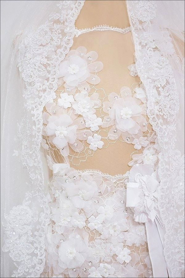 Petals and lace dresses