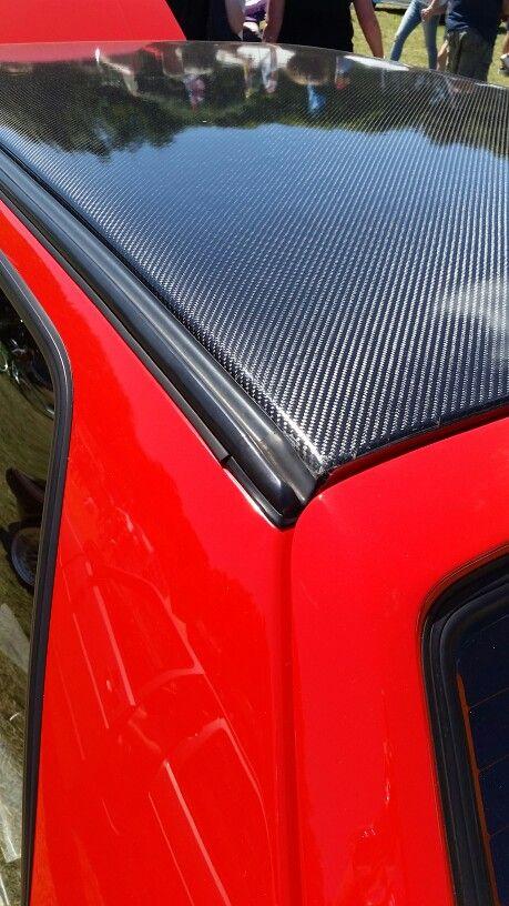 Mk2 Golf With Carbon Roof Skin Volkswagen Golf Mk2 Golf Gti Golf Mk2